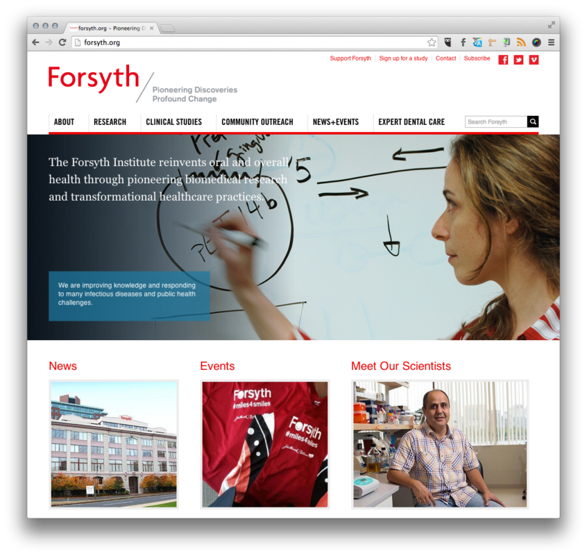 Forsyth Institute home page